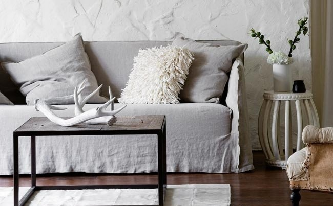 Grey Slipcover Sofa Home The Honoroak