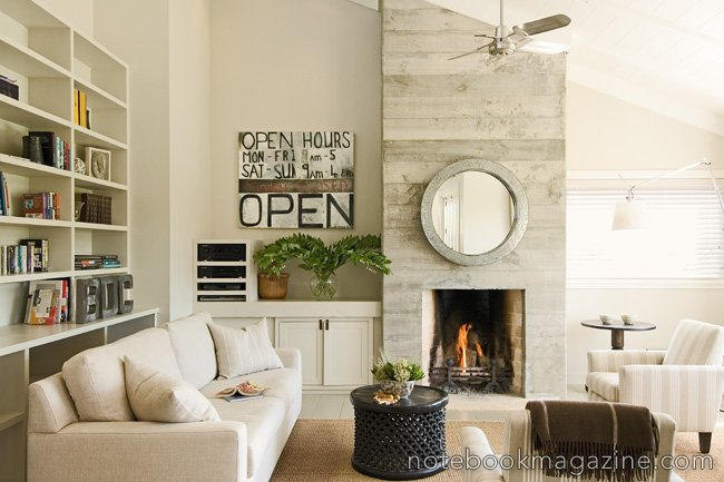 What makes a modern country interior today in 2010? Seems like a lot of white, with clean open surfaces, paired with a few choice natural elements to ...