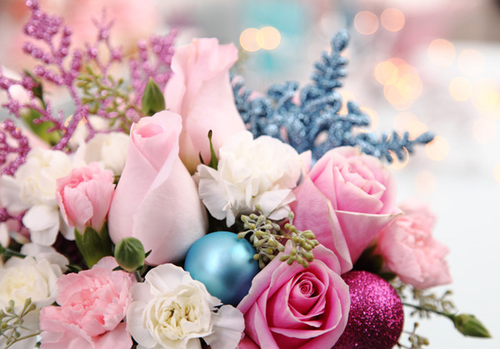 Flower-christmas-decoration