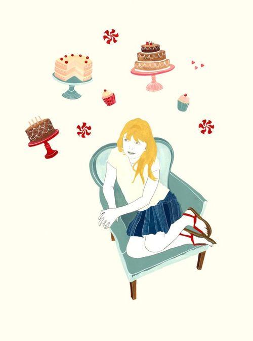 Heart Cake print